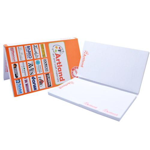 Softcover notepad set with different size of post-it sheets