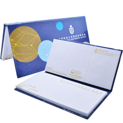 Hardcover sticky note set series with multiple post-it sheets