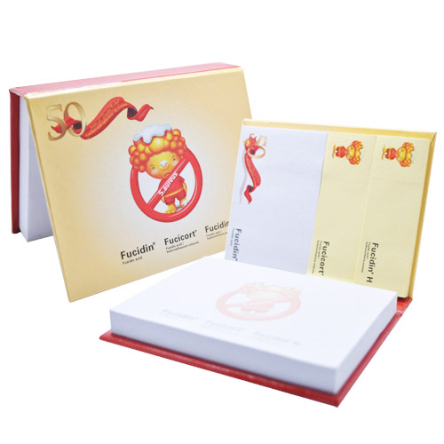Hardcover sticky note set series with memo pads