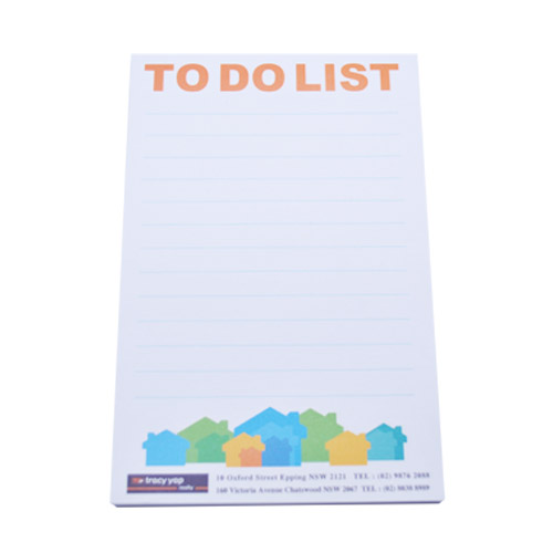 writing pads with colour printing