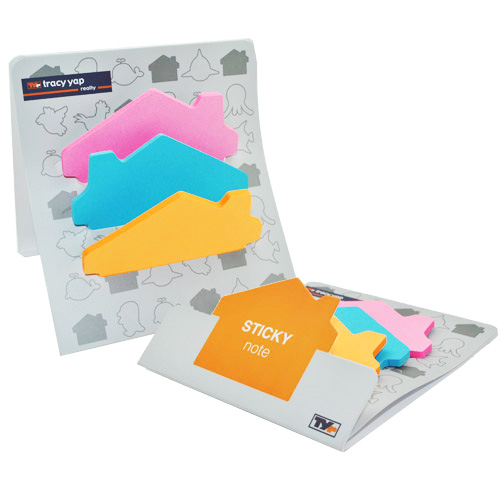 Custom-shaped post-it sheets with different colours
