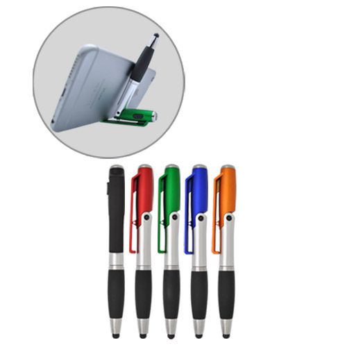 Multi function LED with stylus and phone stand