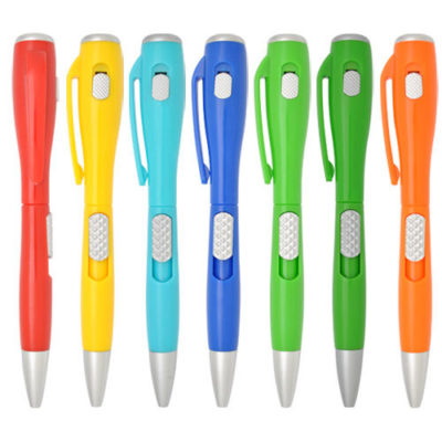 Multi function LED ballpoint pen with customise colour