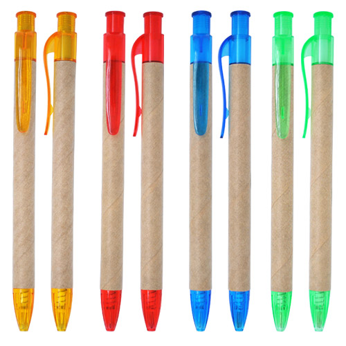 ECO friendly pen with recycled paper barrel