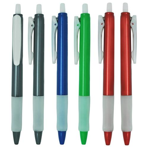 Gel pen with plastic barrrel