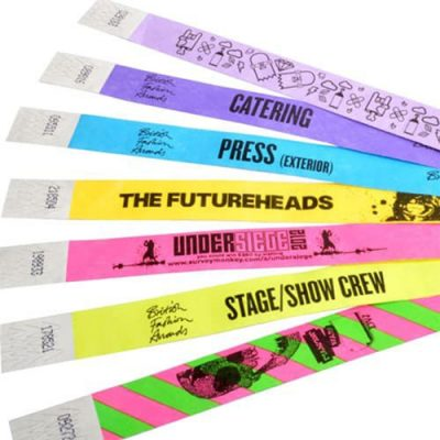 wristband with serial numbers